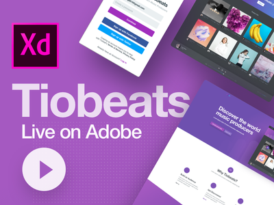Tiobeats - Behance Case Study adobe xd design ui website interface behance case study producers music tiobeats