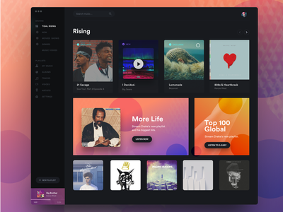Tidal Home Page Redesign landing page global design website interface ui home page tidal