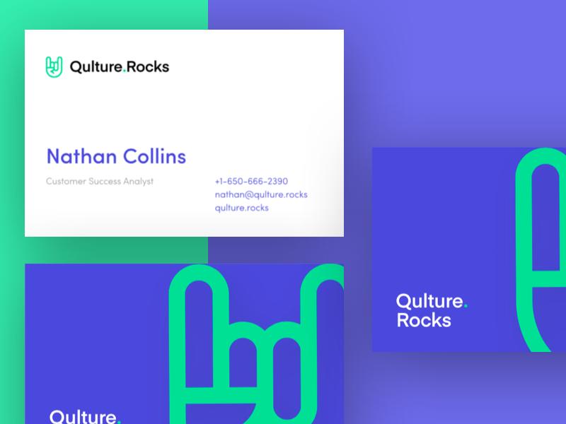 Qulture Rocks Business Cards identity art design layout card information business card business qulturerocks