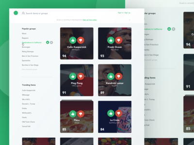 Gusta HomePage Concept