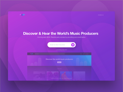 Tiobeats Coming Soon Landing Page landing page adobe xd design ui website interface behance case study producers music tiobeats