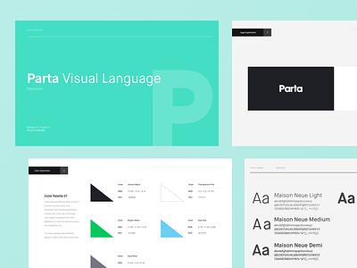Parta Style Guide Preview use parta color design style guide parta