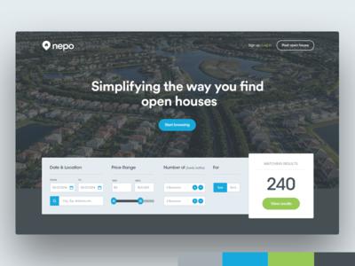 Nepo Homepage Hero