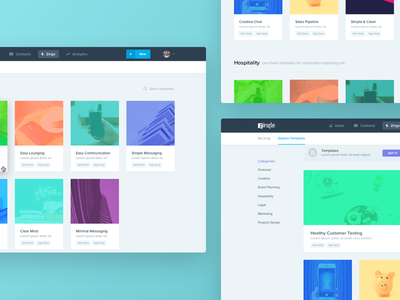 Zingle Templates business functionality variation colors interface ui design templates landing page zingle
