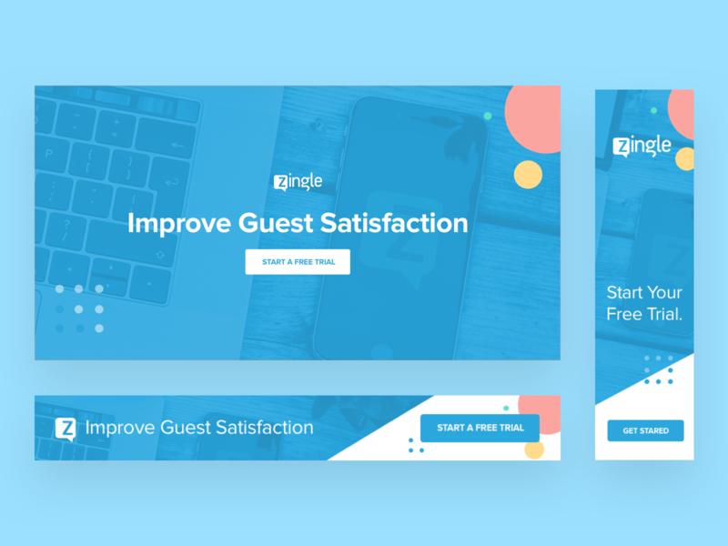 Zingle Web Ads improvement survey website interface ui design trial ads zingle