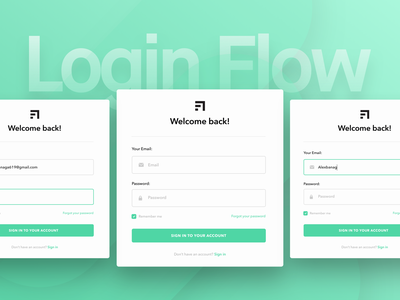 Ledger Login Flow Preview interface ui details information design website landing page login ledger