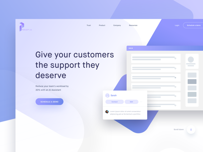Version 2 Of a Hero Concept blue landing page page mobile design ai online support customers ux ui  ux design ui automaton hero