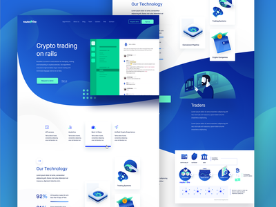 RouteFire Landing Page Full interface ui technology cashflow money crypto details landing page routefire