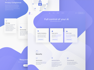 Percept.ai Trust Page Preview details interface ui information demo design website landing page perceptai