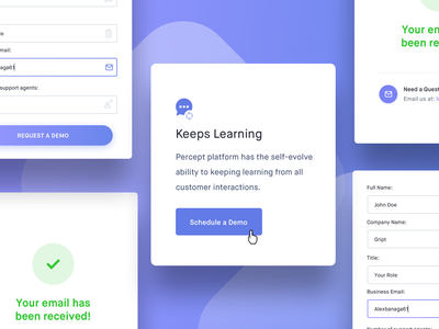 Ui Elements from Percept.ai details login inspiration design landing page website interface ux ui percept ai