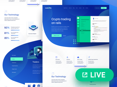 Routefire.io is Live! design technology ui interface website live money trading crypto routefire