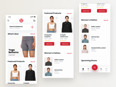Lululemon Mobile App Concept Design