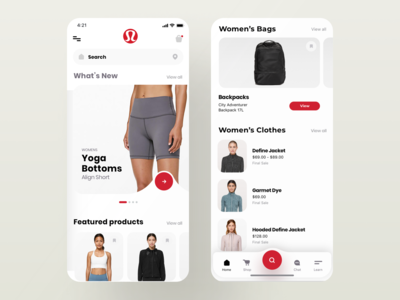 Lululemon Mobile App Concept Design 2.0