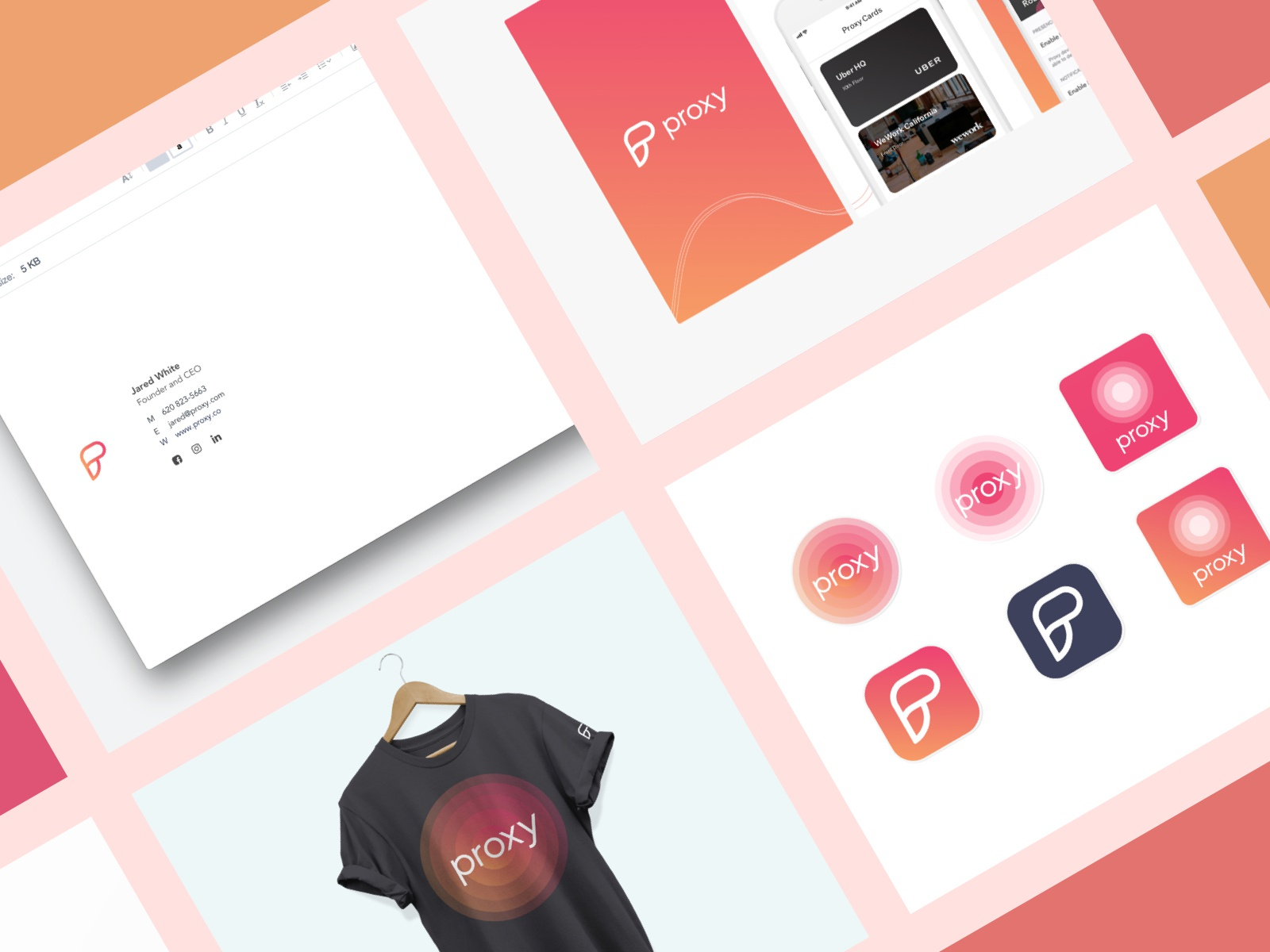 Branding for Proxy done last year by Alex Banaga on Dribbble