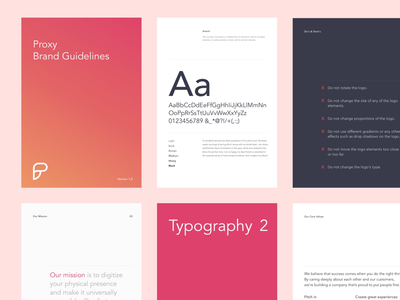 Branding and Typography for Proxy