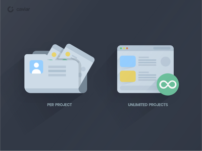 Caviar Icons unlimited project design interface ux ui identiy icons caviar