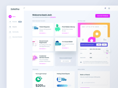 DoNotPay Dashboard Preview