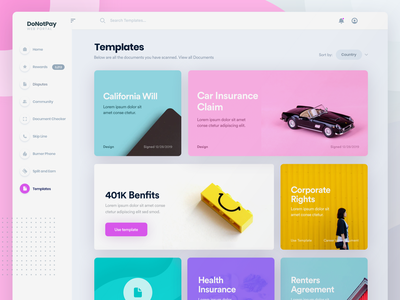 DoNotPay Template Portal for Web docs web web product agreements products health insurance 401k corporate wills insurance car alexbanaga donotpay template