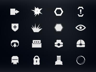 Robothorium Icons graphic design video game sci fi ui icons