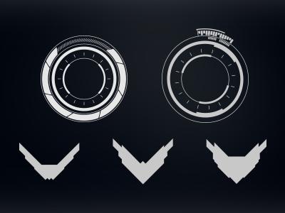 Robothorium Hud sci fi video game ui art icons design