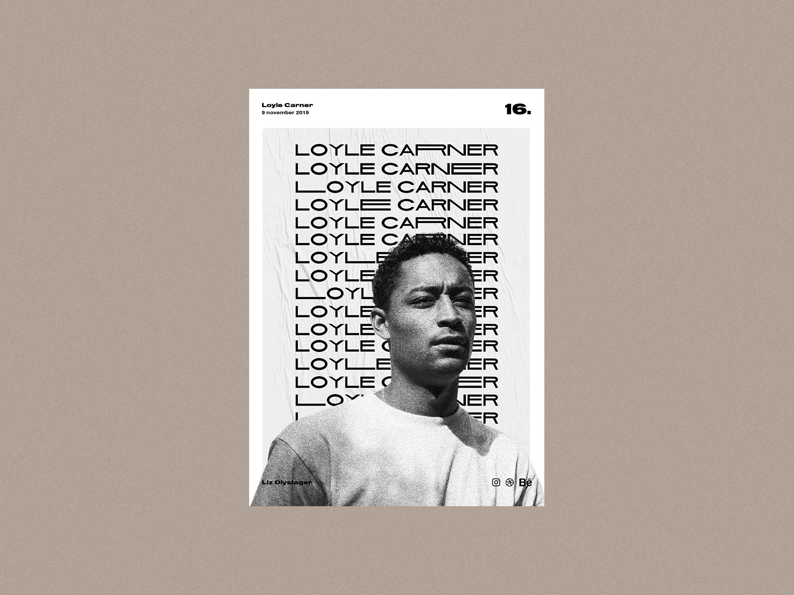 Poster day 16 - Loyle Carner