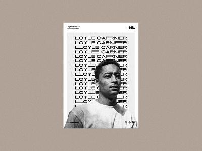 Poster day 16 - Loyle Carner poster design musician visual showcase poster series loyle carner