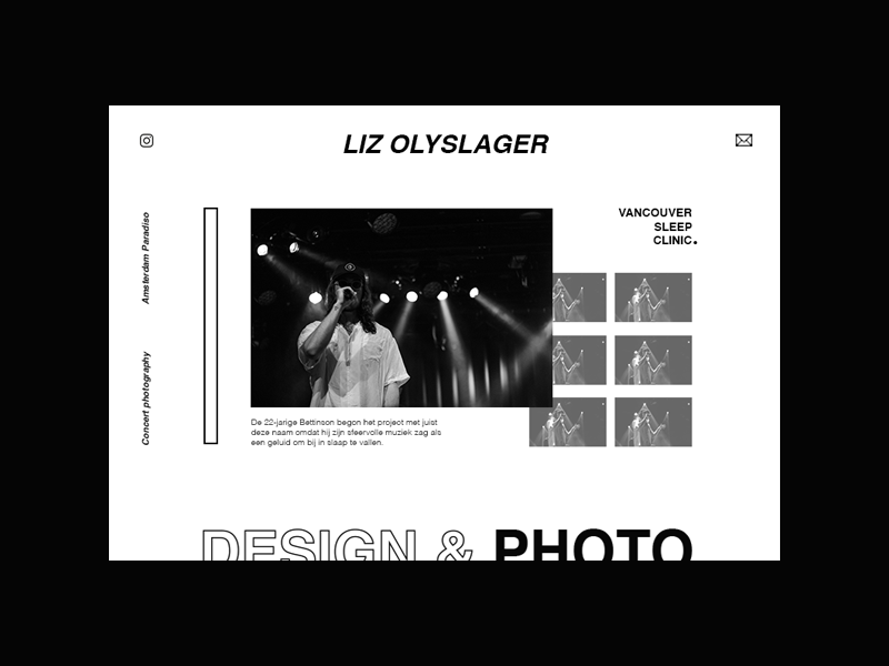 Website layout - experimenting