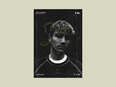 Poster day 10 - Jeremy Zucker experimental text portratit photoshop visual poster jeremy zucker poster series