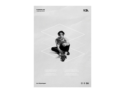 Poster day 13 - YUNGBLUD yungblud poster collection photoshop type textual visual poster a day poster