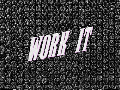 Visual | work it type cover spotify photoshop visual