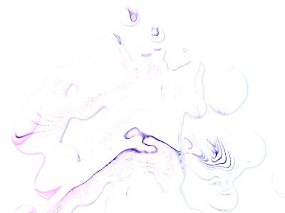 Inky squiggle drops blurry lines gradient mercury liquid water squiggles ink