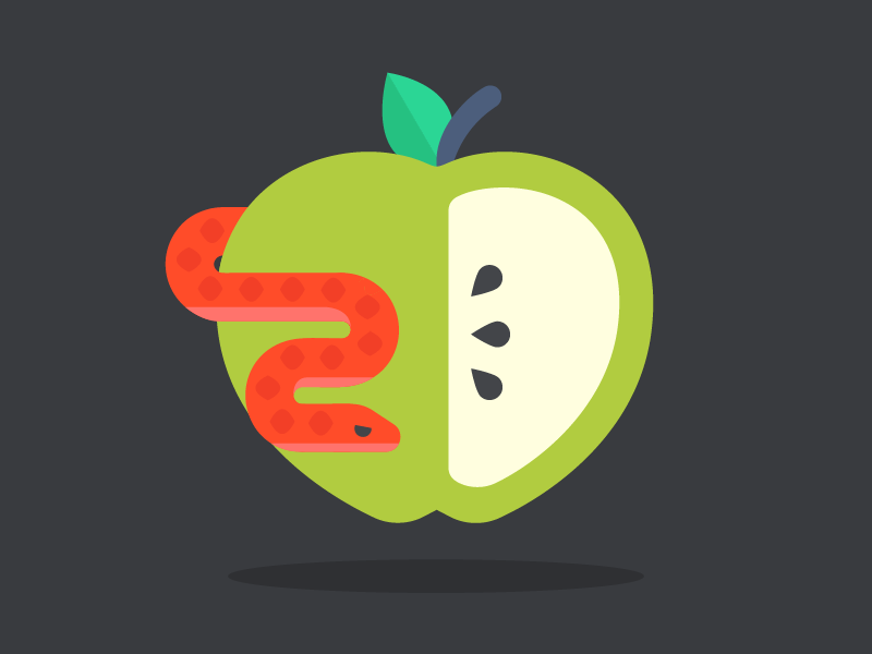 Green Apple Emoji By Julia Lopez Mobilia Dribbble Dribbble