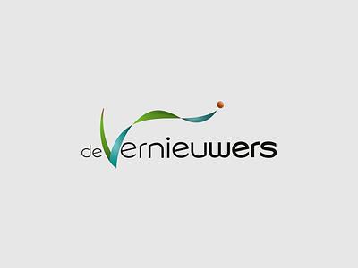 deVernieuwers wordmark simple flat bold icon conceptual clean branding logo