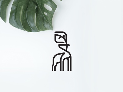 Leaf + Deer apparel logo design geometric linework bold flat clean conceptual branding logo leaf deer