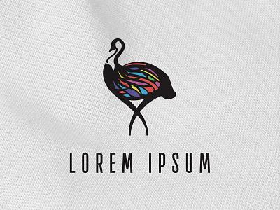 Stained Glass Emu elegant illustration bird animal intricate bold icon conceptual clean branding logo