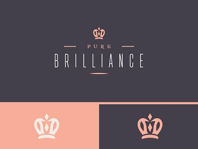 Pure Brilliance - Penguin + Crown diamonds jewelry crown penguin bold conceptual clean branding logo