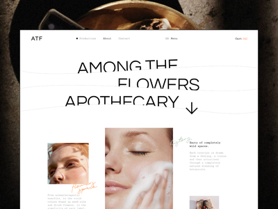 About page for ATF Cosmetics store concept waves minimalism typogaphy ux ui website ribsone product online store soap nature grid e-commerce cosmetics about about page clean catalog beauty