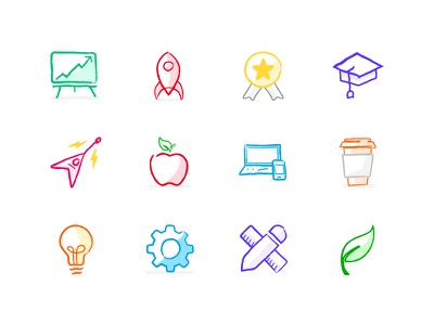 Carrers Page Icons office perks mission ownership memories healthcare product design engineering website iconset icons