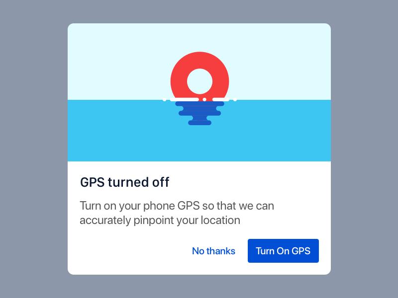 GPS Mobile Dialog by Dhananjay Garg on Dribbble