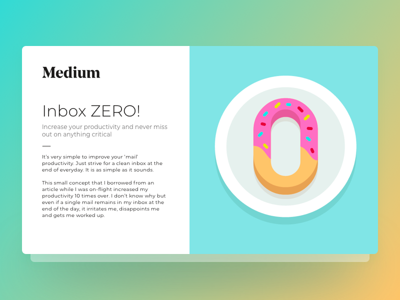 Inbox Zero by Dhananjay Garg on Dribbble