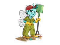 Winged Bug 6: Bluebottle