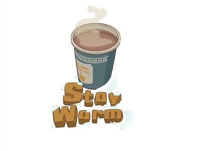 Stay Warm NYC adobe illustrator illustration lettering snow winter retro amphora coffee nyc