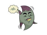 Derp Plankton from Tiny Oceans Plankton Line Stamps