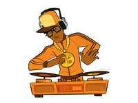 Hip Hop Nigh Promo Element: the DJ