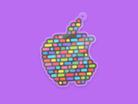 Coding Charm color flat logo developer app stroke ios code snippet charm sticker mule sticker coding apple