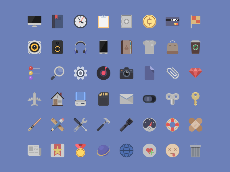 Icons - Free PSD  icon set material psd free file camera music mail settings