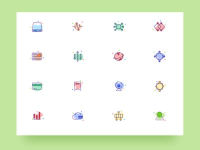 Icon design beautiful simple color linear design graphics icon