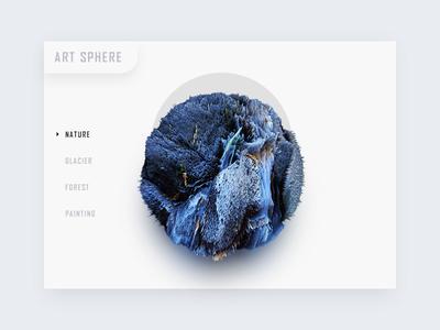 Art  sphere card nav shadow web c4d 3d blue color planet ball sphere art