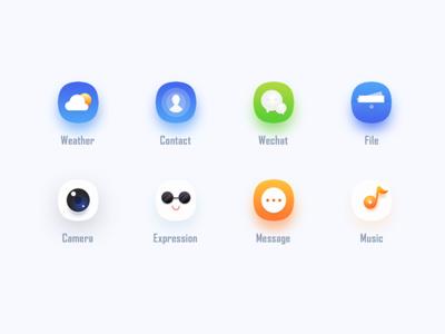 Theme icon graphics phone mobile beautiful cute gradient flat color icon design ui