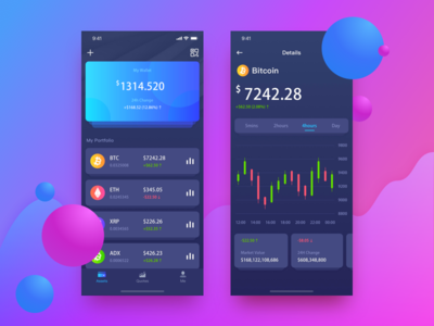 Crypto application product mobile interface ui  ux cryptocoin design app crypto ui